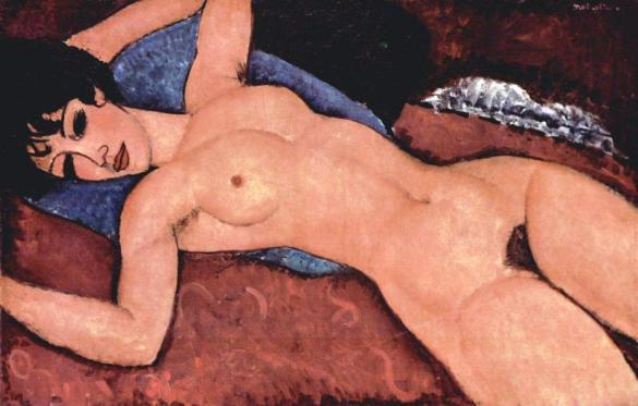 Modigliani_Amedeo-Sleeping_Nude_with_Arms_Open_Red_Nude